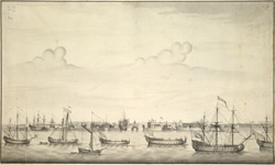 A West View of His Majesty's Dock Yard near Portsmouth